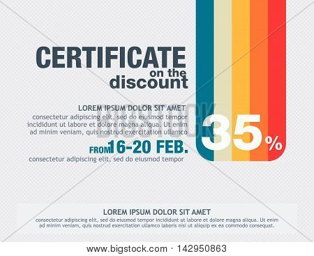 Retro Certificate  On The Discount Template.