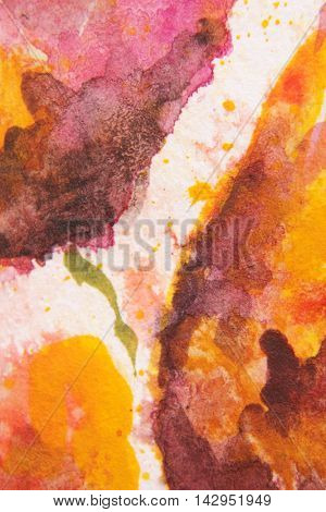 Burgundy and Yellow Watercolour Textures 8