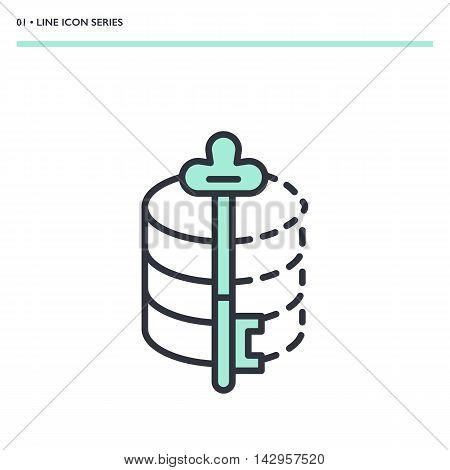 Vector Data Encryption Icon