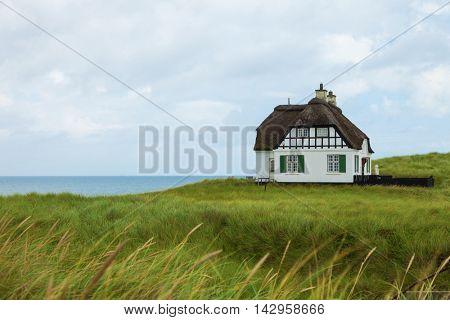 Villa White historical in Denmark with sea view