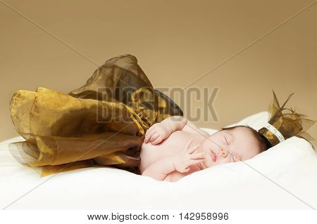 Baby sleeping newborn - fine-art portrait baby up to one month