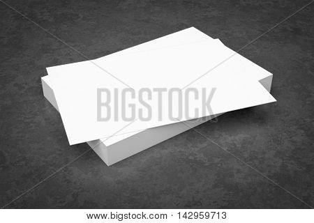 3d rendering of a batch of business cards