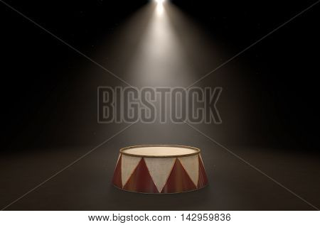 Circus Podium Spotlit
