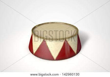 Circus Podium Isolated