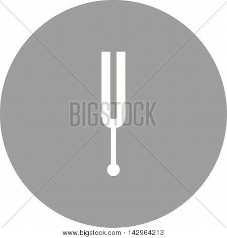 Tuning, fork, vibration icon vector image. Can also be used for music. Suitable for web apps, mobile apps and print media.