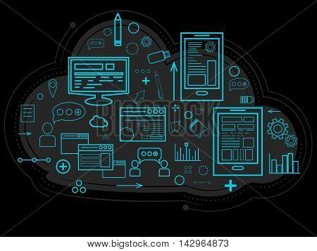 Cloud Data Is Stored On The Server, Information About People, Graphs, Reports, The Memory Of Work An