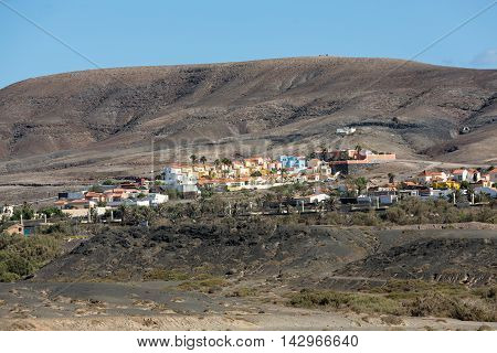 La Pared village on the south western part of Fuerteventura . Canary Islands Spain