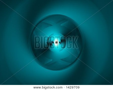 Blue Abstract Space Eye - Digital Background