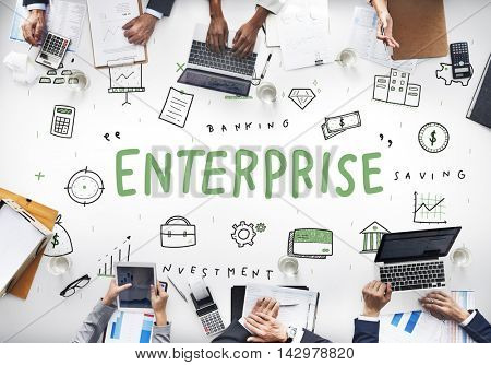 Enterprise Company Business Corporation Organization Concept