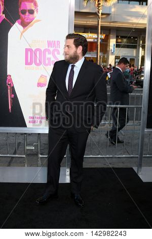 LOS ANGELES - AUG 15:  Jonah Hill at the War Dogs