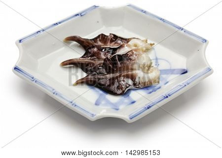 torigai, japanese cockle isolated on white background