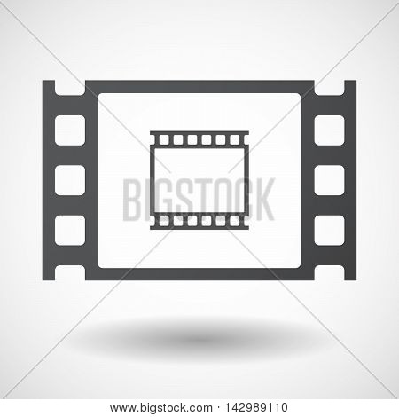 Isolated Celluloid Film Frame Icon With   A Photographic 35Mm Film Strip
