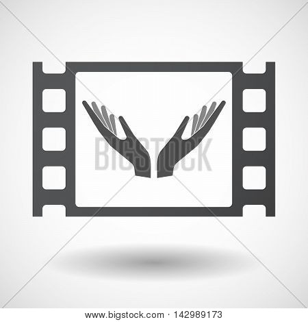 Isolated Celluloid Film Frame Icon With
