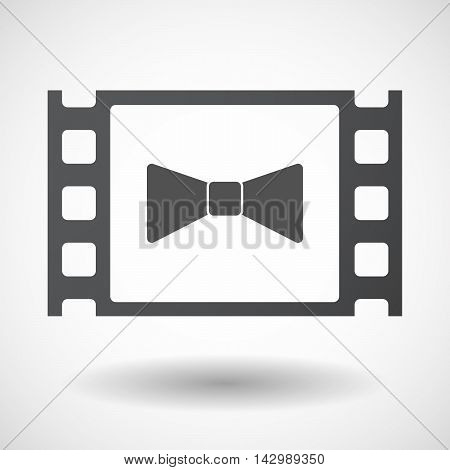 Isolated Celluloid Film Frame Icon With  A Neck Tie Icon