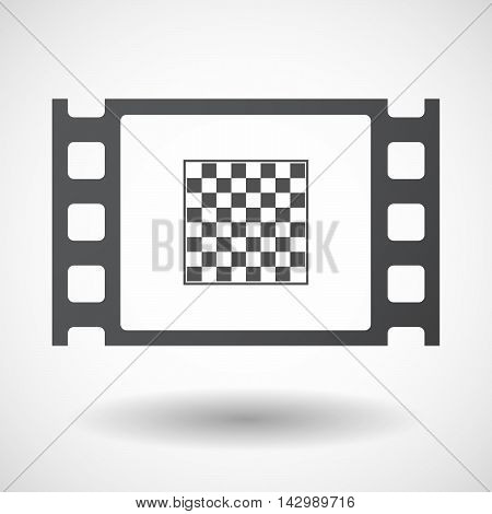 Isolated Celluloid Film Frame Icon With  A Soccer Ball
