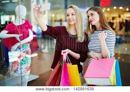 Selfie of shoppers