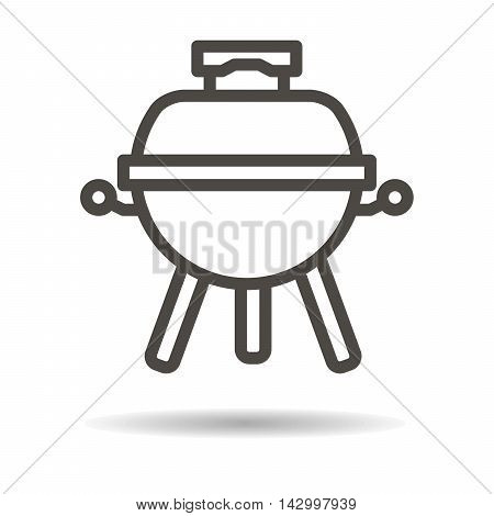 BBQ and grill icon on a white background