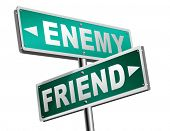 friend enemy best friends or worst enemies friendship 3D illustration poster