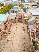 High dynamic range HDR Ruins of bombed St Michael Cathedral Coventry England UK poster