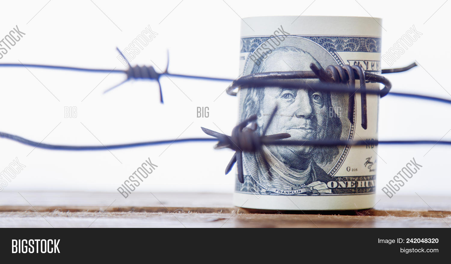 Us Dollar Wrapped Image Photo Free Trial Bigstock