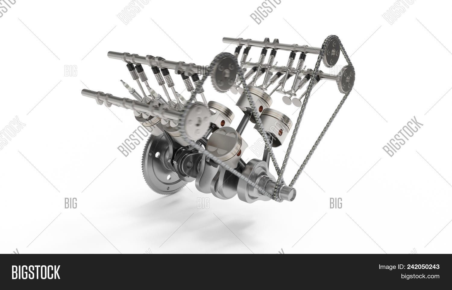 3d Rendering Internal Image Photo Free Trial Bigstock Combustion Engine System Diagram Of An Parts Crankshaft Pistons Fuel