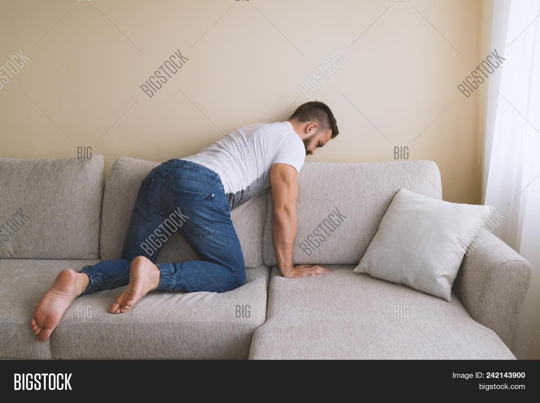 Sleeping male feet