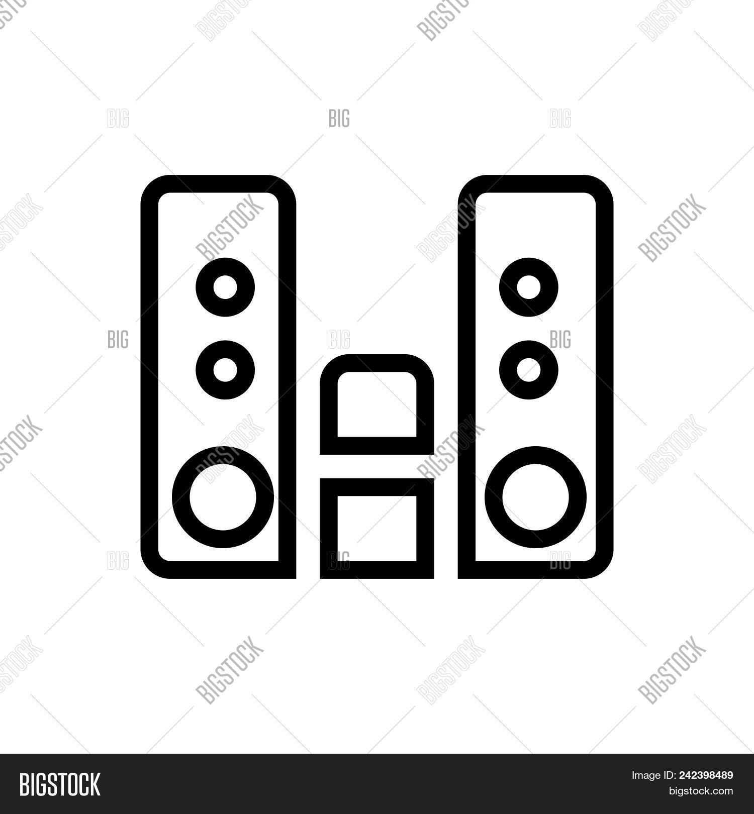 Audio Player Outlined Vector Photo Free Trial Bigstock