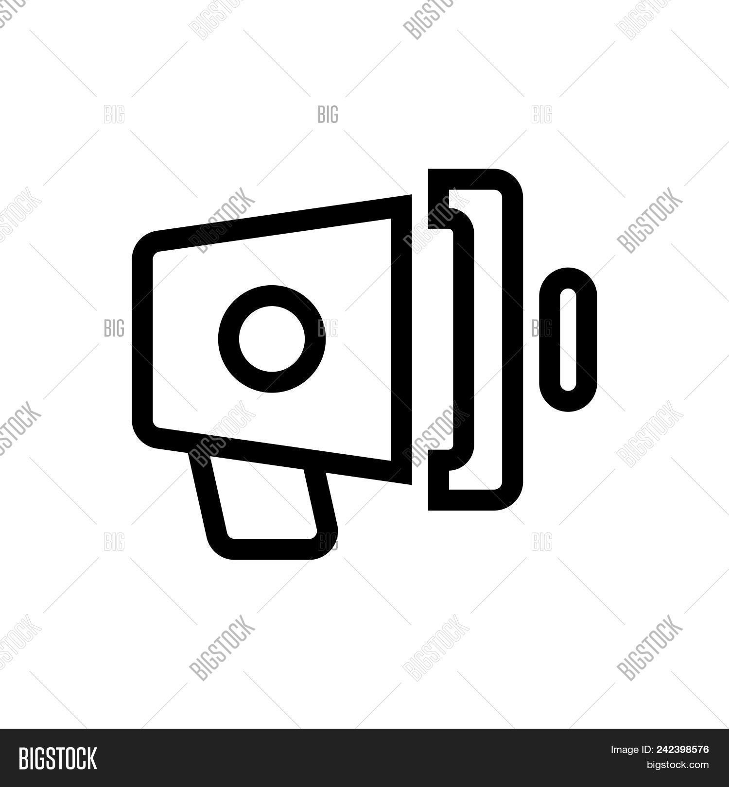 Loud Speaker Outlined Vector Photo Free Trial Bigstock