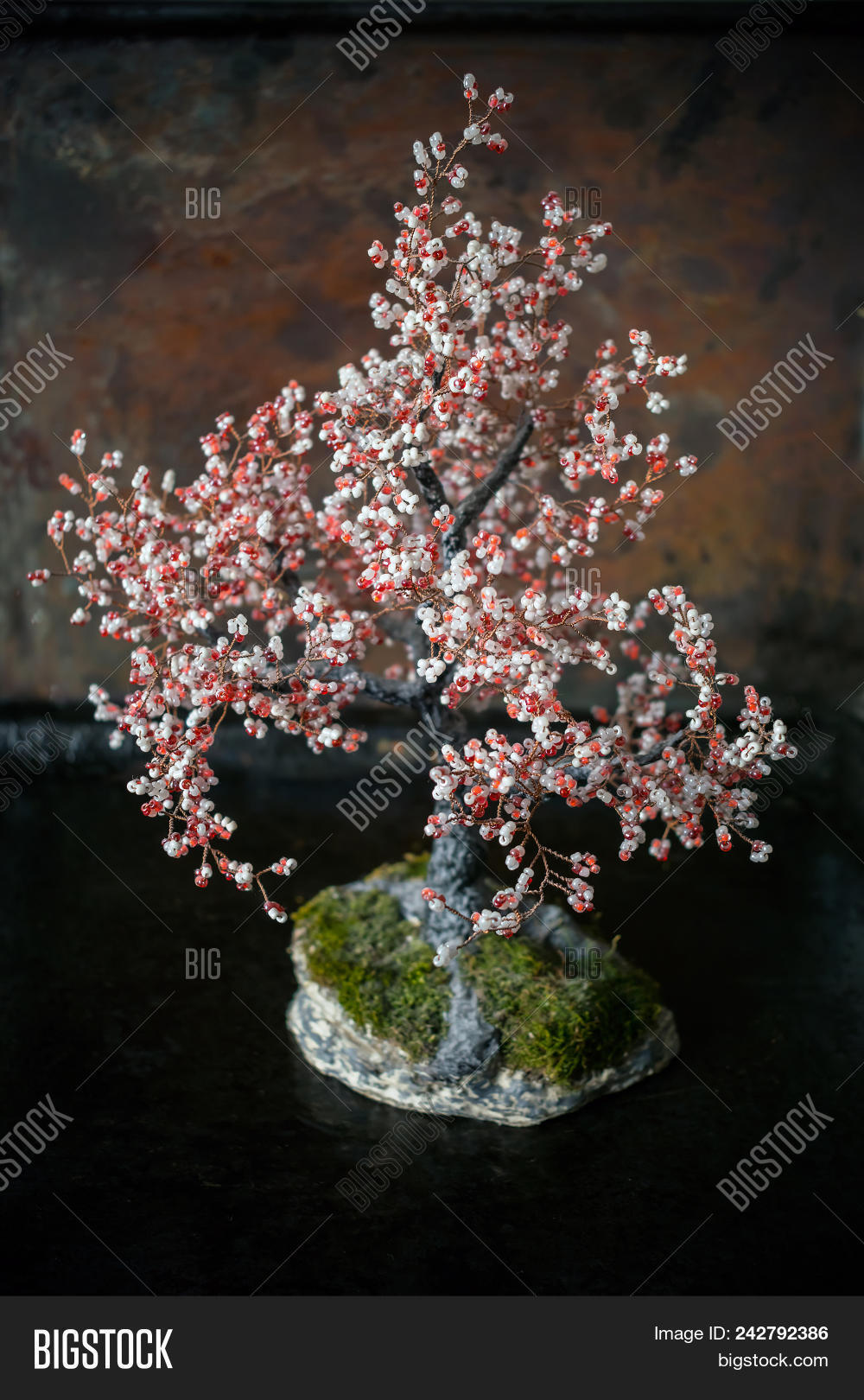 Bonsai Tree White Red Image Photo Free Trial Bigstock