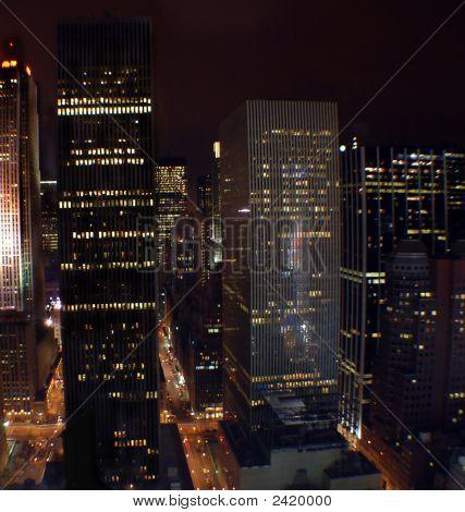 Manhattan, New York bei Nacht
