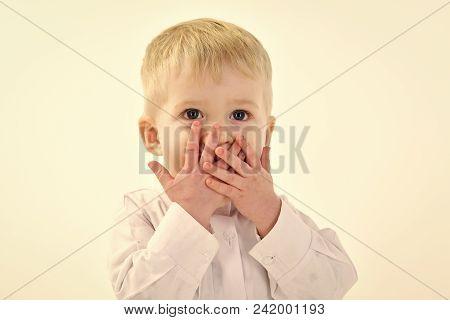 Happy Kid Having Fun. Childhood And Happiness, Little Boy. Childhood, Happiness Of Little Boy Isolat