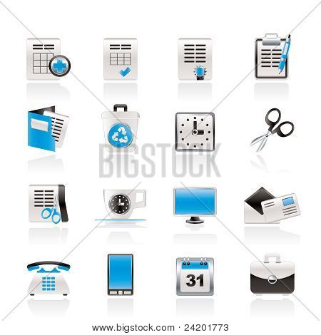 Business and office tools icons