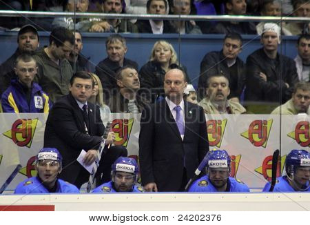 The Head Coach Of Kazakhstan Andrei Khomutov