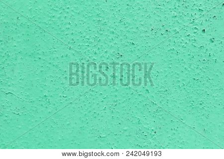 The Wall Surface Is Painted With Oil Paint. The Paint Cracked With Time And Weather. On The Surface