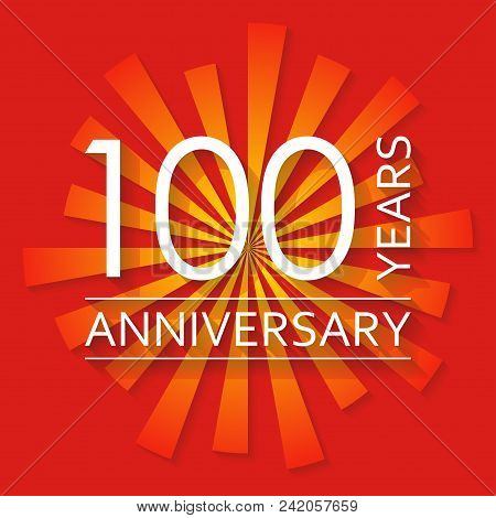 100 Years Anniversary Emblem. Anniversary Icon Or Label. 100 Years Celebration And Congratulation De