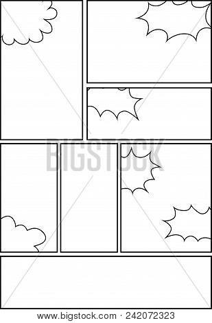 Comic Storyboard Layout 17 Vector Photo Bigstock