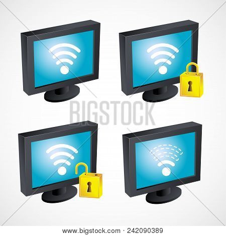 Set Gradient Icon Gdpr - General Data Protection Regulation Law Of The European Union. Security Tech