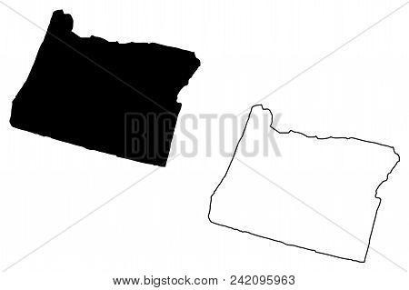 Free Oregon Map.Oregon Map Vector Vector Photo Free Trial Bigstock