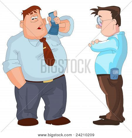 Businessmen with mobile phones