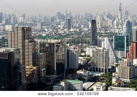 The Metropolitan Bangkok City Downtown Cityscape Urban Skyline  Thailand In May 2018 - Cityscape Ban