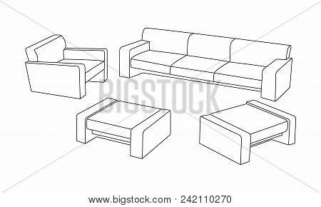 Set Modern Sofa Icon Vector Photo Free Trial Bigstock