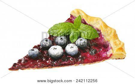 French cuisine - Quark and blueberry tart