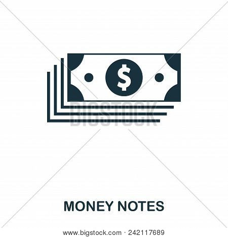 Money Notes Icon. Flat Style Icon Design. Ui. Illustration Of Money Notes Icon. Pictogram Isolated O