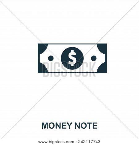Money Note Icon. Flat Style Icon Design. Ui. Illustration Of Money Note Icon. Pictogram Isolated On