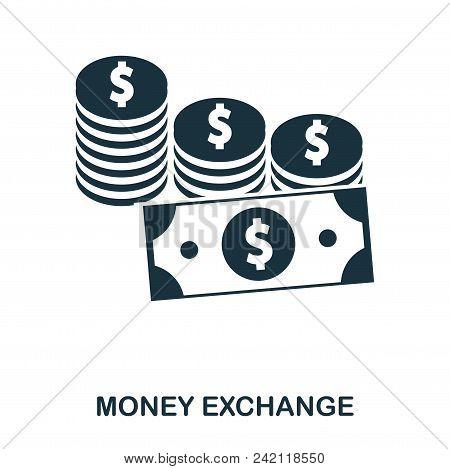 Money Exchange Icon. Flat Style Icon Design. Ui. Illustration Of Money Exchange Icon. Pictogram Isol