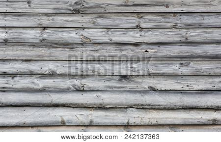 Wooden Fence  From Rough Pine Boards Backgrounds