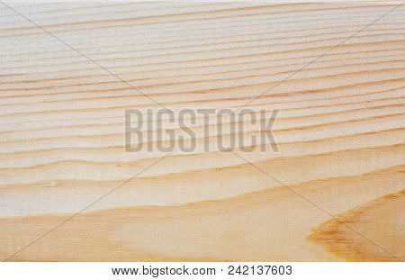 Surface Of New Textural Pine Board Background Close Up