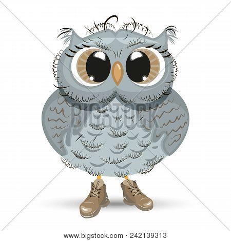 Cute Cartoon Owl Wise Vector Photo Free Trial Bigstock