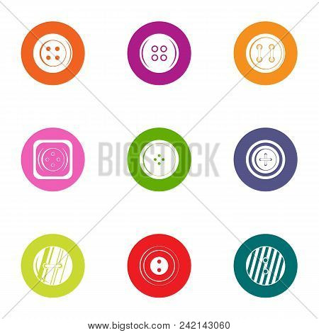 Clasp Icons Set. Flat Set Of 9 Clasp Vector Icons For Web Isolated On White Background