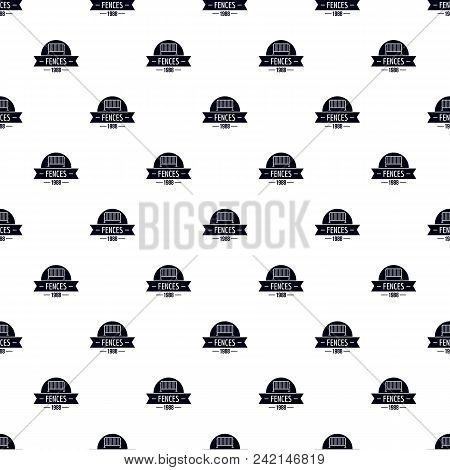 Fence Barrier Pattern Vector Seamless Repeat For Any Web Design